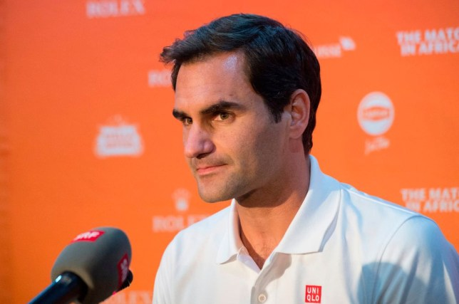 Roger Federer answers questions ahead of his meeting with Rafael Nadal in the Match For Africa in Cape Town