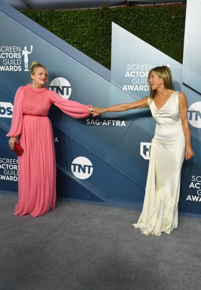 Jennifer Aniston and Elizabeth Moss