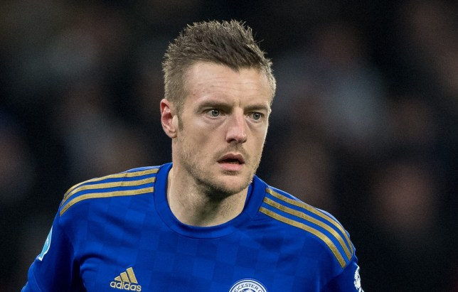 Leicester City striker Jamie Vardy is sidelined with a calf injury