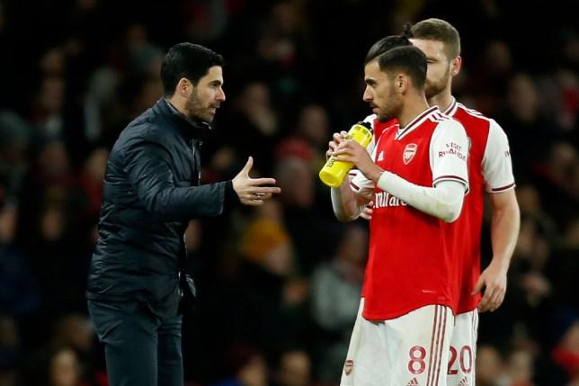 Arsenal boss Mikel Arteta and Dani Ceballos