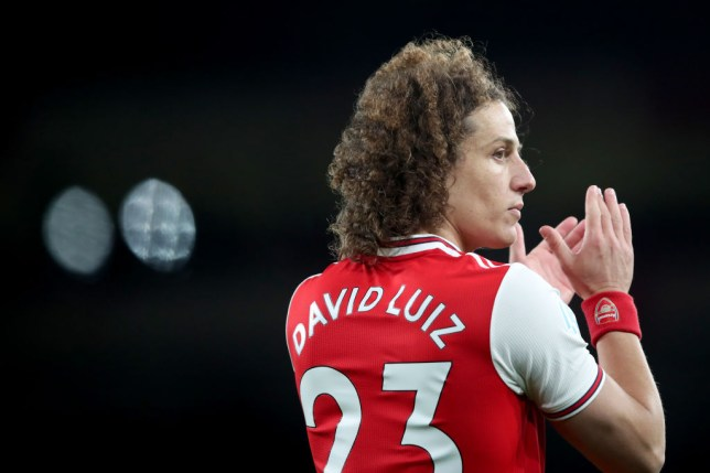 David Luiz during Arsenal's Premier League clash with Newcastle