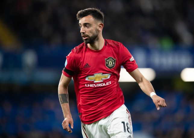 Bruno Fernandes during Manchester United's Premier League clash with Chelsea