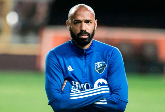 Arsenal legend Thierry Henry in training with Montreal Impact