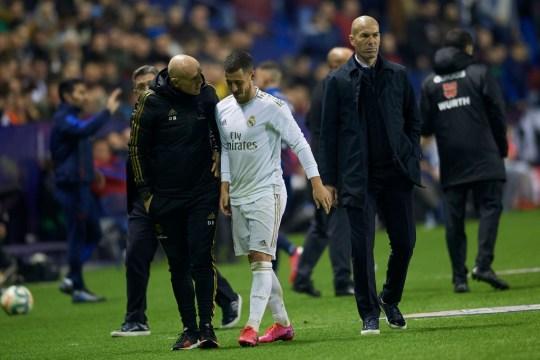 Real Madrid Vs Man City Eden Hazard Limps Off Injured Just Days