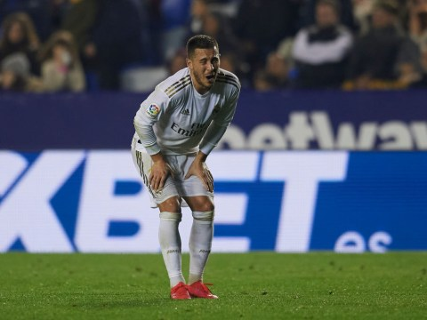 Real Madrid star Eden Hazard limps off injured just days before Man City Champions League clash