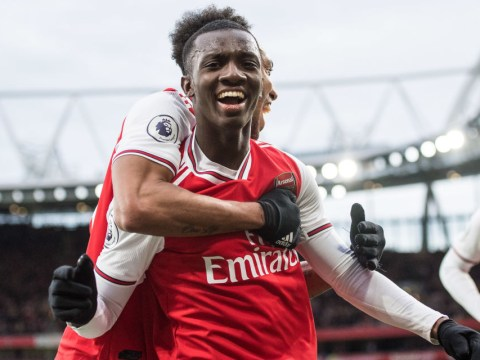 Eddie Nketiah insists there are no hostilities after replacing Alexandre Lacazette in the Arsenal team