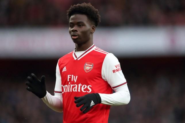 Bukayo Saka impressed against Everton