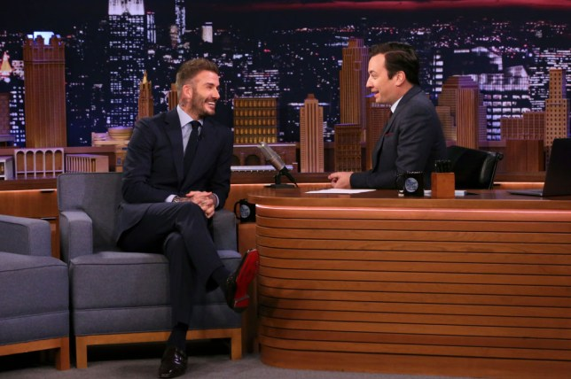 David Beckham discussed the Cristiano Ronaldo and Lionel Messi rumours with Jimmy Fallon
