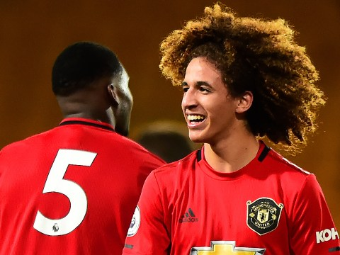 Hannibal Mejbri 'taking the p***' out of older Manchester United teammates in training
