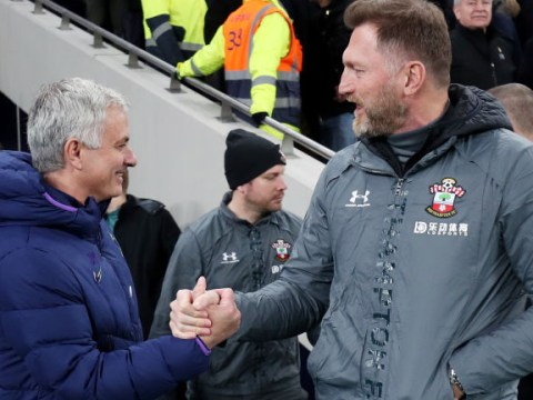Jose Mourinho told Ralph Hasenhuttl 'best team lost' after Tottenham win over Southampton