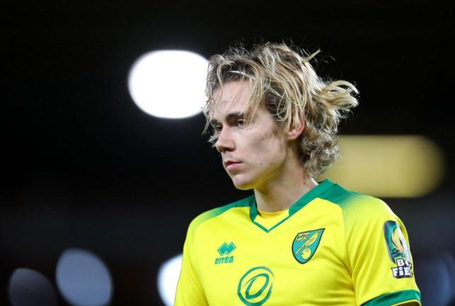 Norwich City midfielder Todd Cantwell