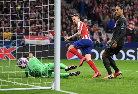 Saul Niguez's goal condemned Liverpool to only their second loss of the season in all competitions