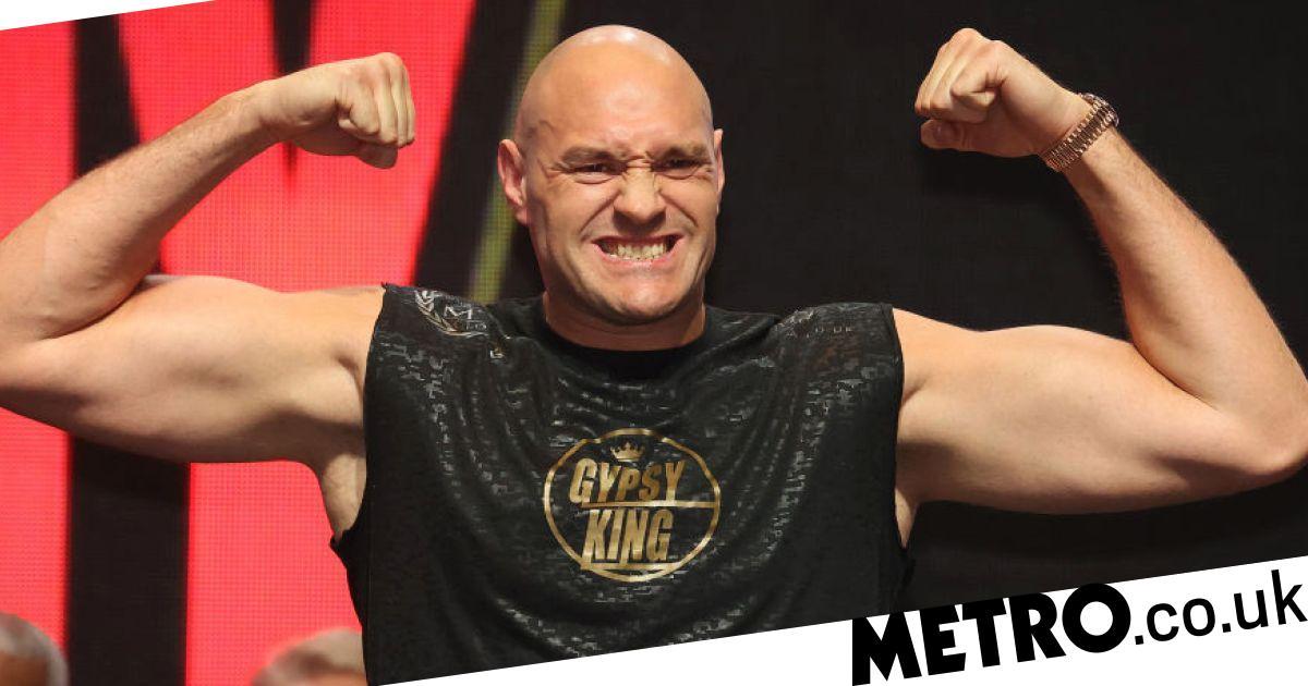 Tyson Fury weighs in three stone heavier than Deontay Wilder