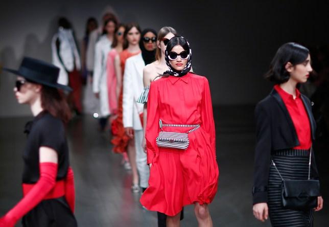A catwalk show at London Fashion Week