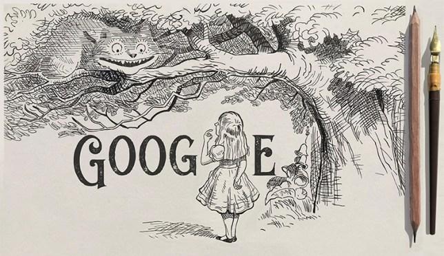 Google Doodle dedicated to Sir John Tenniel