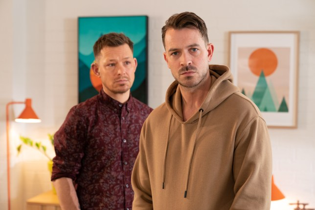 Kyle Kelly and Darren Osbourne in Hollyoaks