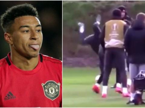Manchester United fans slam Jesse Lingard for fooling around in training behind Ole Gunnar Solskjaer's back