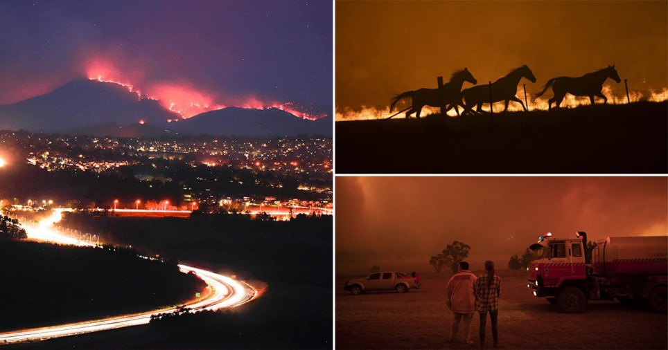 A fire has ravaged one fifth of Australians capital territory