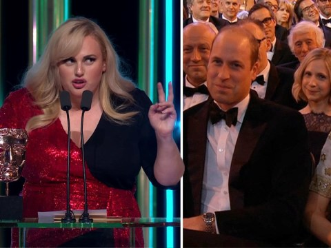 Rebel Wilson Bafta speech: Prince William and Kate Middleton's reaction to Prince Andrew joke is quite something
