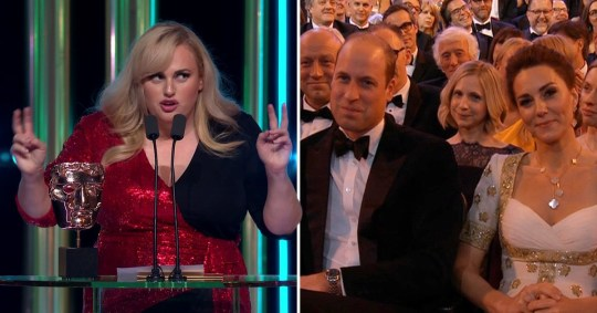 Rebel Wilson cracks Prince Andrew jokes to Prince William and Kate Middleton