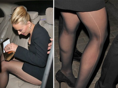 Scarlett Johansson is one of us as she leaves Baftas after-party with a ladder in her tights