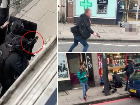 Video captures seconds after police shot Streatham terrorist dead in the street