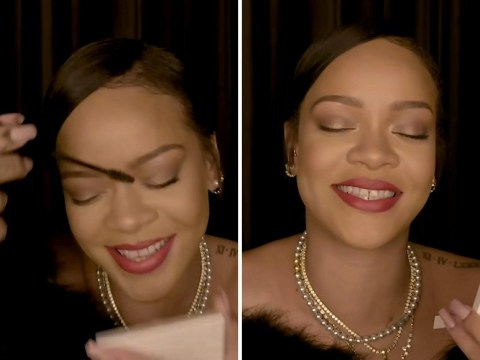 Rihanna cracking up during innuendo filled Fenty Beauty tutorial is the content we all need