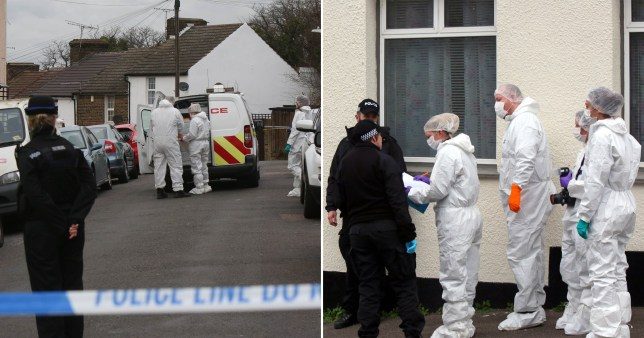 A 44-year-old man died at the scene after a violent attack in his own home (Picture: UKNIP)