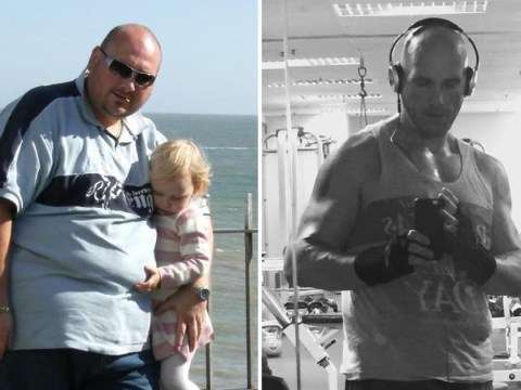 Father loses 20 stone after worrying his daughter would be bullied for having a 'fat dad'