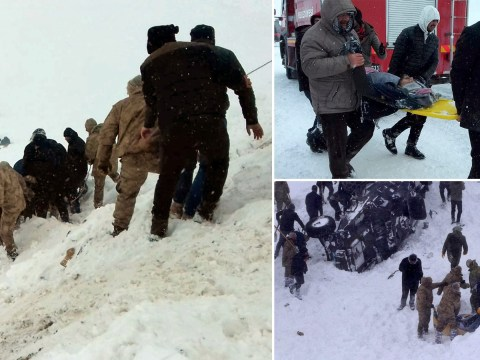 Dozens dead after two avalanches strike at same place, killing rescuers