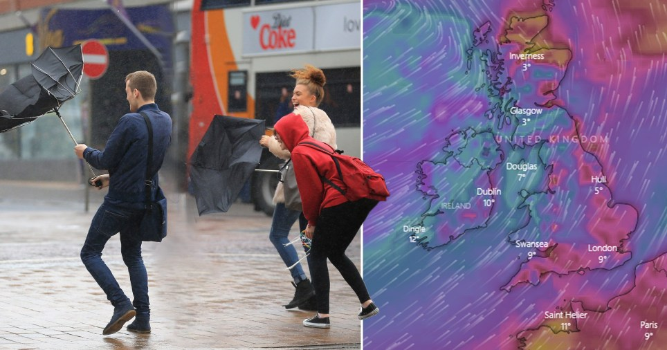 Storms heading to Britain