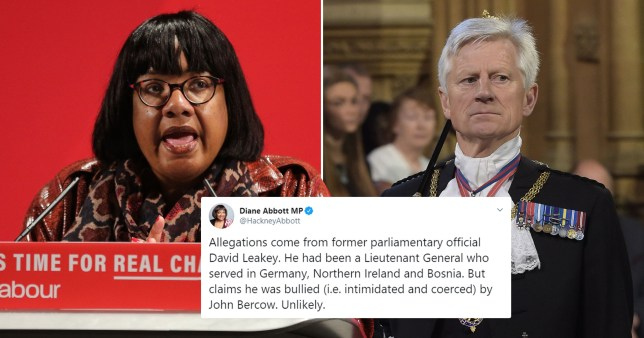 She was defending John Bercow, who has been accused of bullying