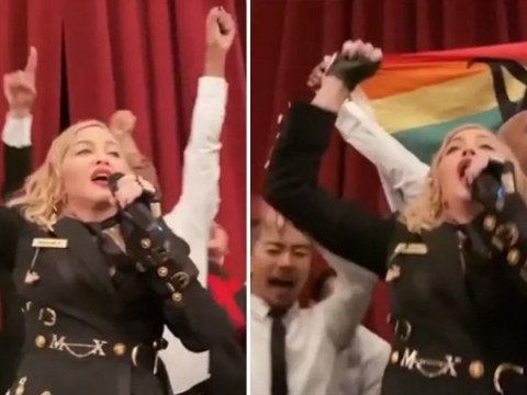 Madonna rages as Madame X show cut short claiming theatre lowered '9 tonne' curtain on the stage