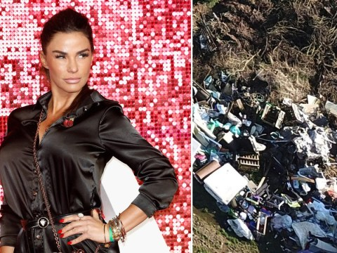 Katie Price dumps piles of trash outside 'mucky mansion' amid house makeover