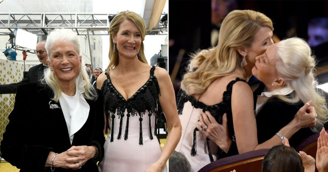 Laura Dern with her mother Diane Ladd