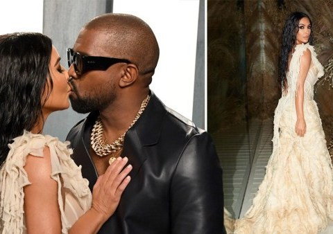 Oscars 2020: Kanye West and Kim Kardashian hit Vanity Fair party in style