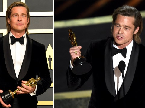 Brad Pitt actually does write his own funny speeches because there really isn't anything he can't do