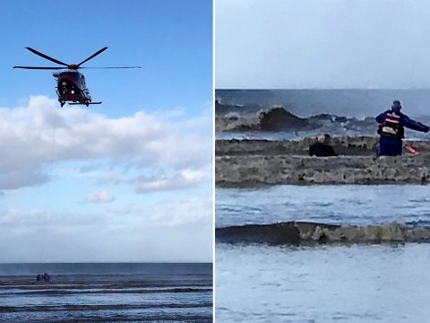 Mum and daughter, 5, stuck in quicksand dramatically rescued as tide closes in