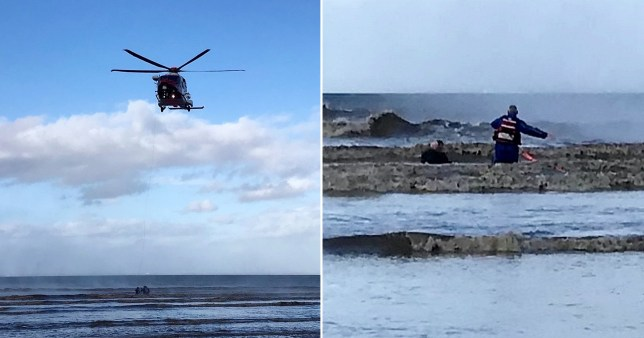 Dramatic rescue from quicksand