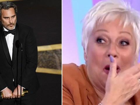 Denise Welch swears on live TV talking about 'guilt' of Joaquin Phoenix's 'preachy' Oscars speech