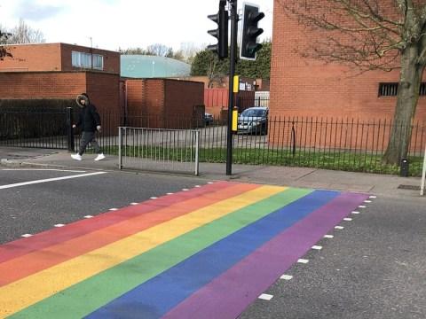 Homophobes target school for painting rainbow on zebra crossing