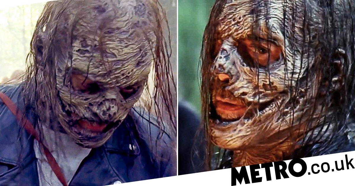 The Walking Dead 10B: Negan's Whisperers mask unveiled in gruesome new trailer