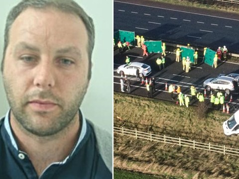 Lorry driver killed two after playing games on his phone at the wheel