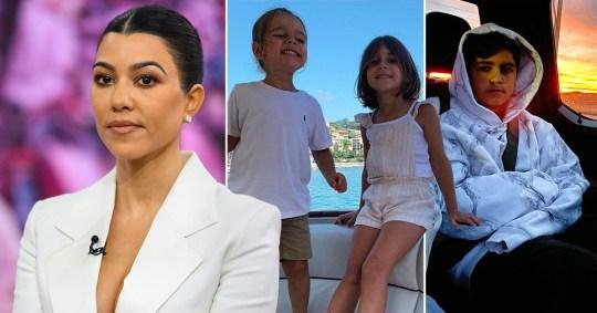 Kourtney Kardashian and her kids