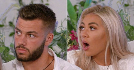 Finley Tapp and Paige Turley from Love Island