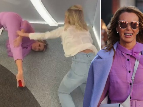 Amanda Holden looks pretty pleased with herself after nailing famous Pussycat Dolls bum move (with a helping hand from Ashley Roberts…)