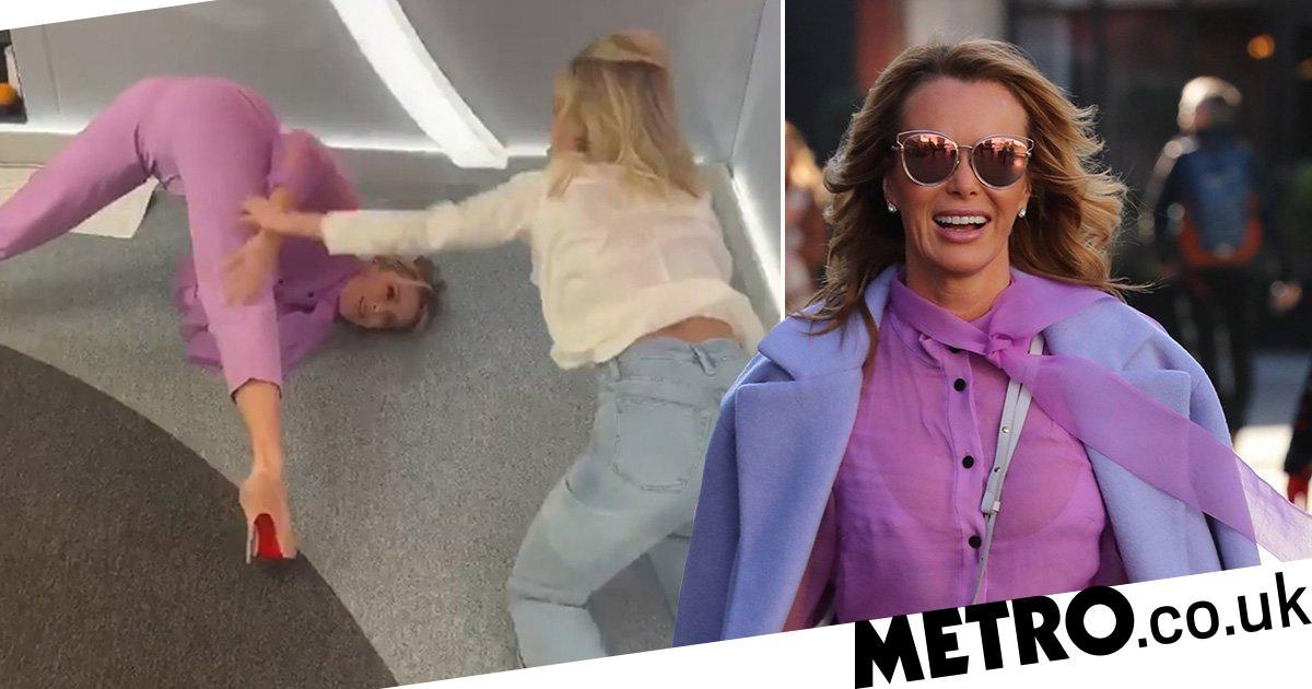 Amanda Holden nails the Pussycat Dolls' famous bum move