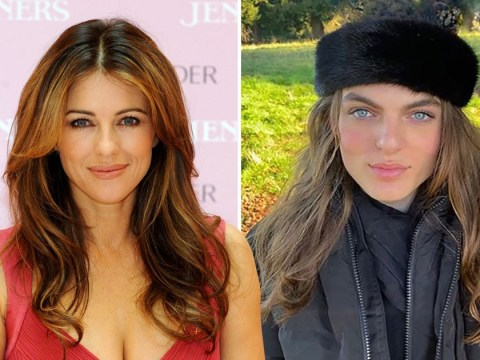 Damian Hurley is basically Liz Hurley's clone in new winter snap