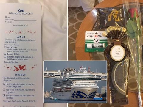 Coronavirus doesn't stop Valentine's Day celebrations on quarantined cruise ship