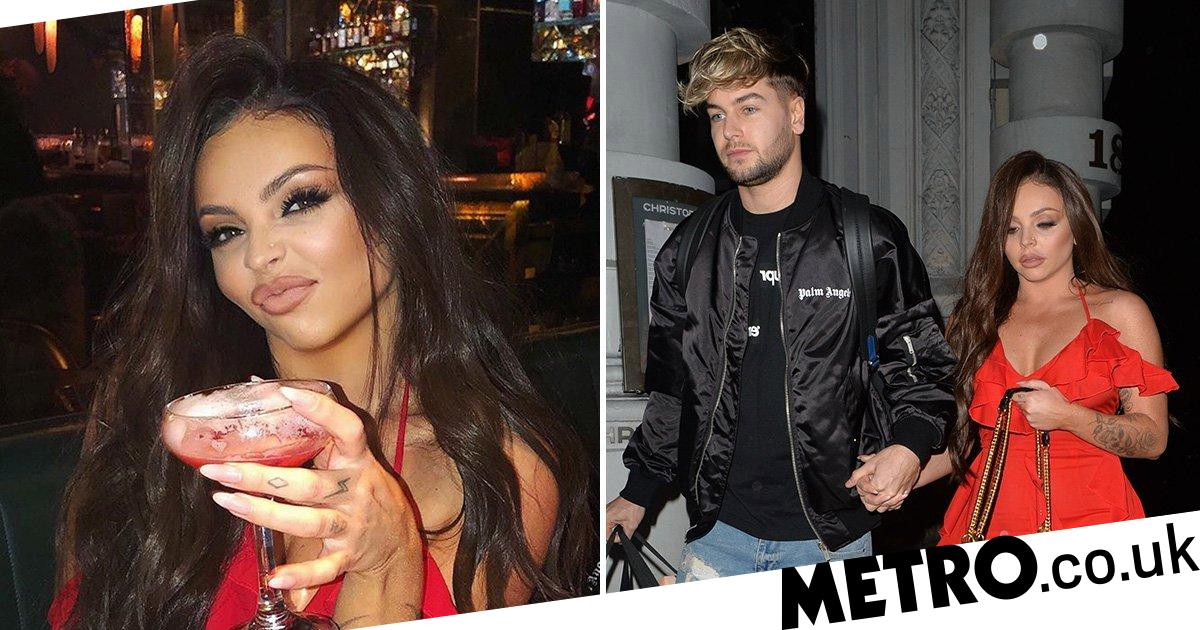 Jesy Nelson and Chris Hughes are couple goals with Valentine's Day dinner